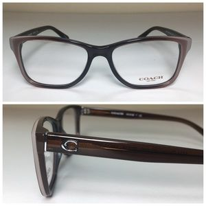 Coach Taupe Rectangle Eyeglasses Frames NWOT